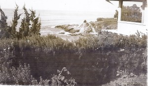Our house (rented) on a cliff overlooking the ocean at Laguna Beach, California